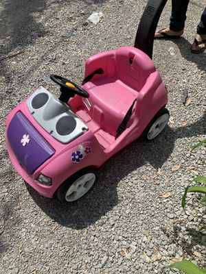 Kids Pink push stroller car. With steering wheel, horn, drink holder, storage compartment for Sale in Chicago, IL