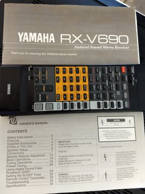 Vintage Yamaha RX-V690 Receiver for Sale in Gilbert, AZ