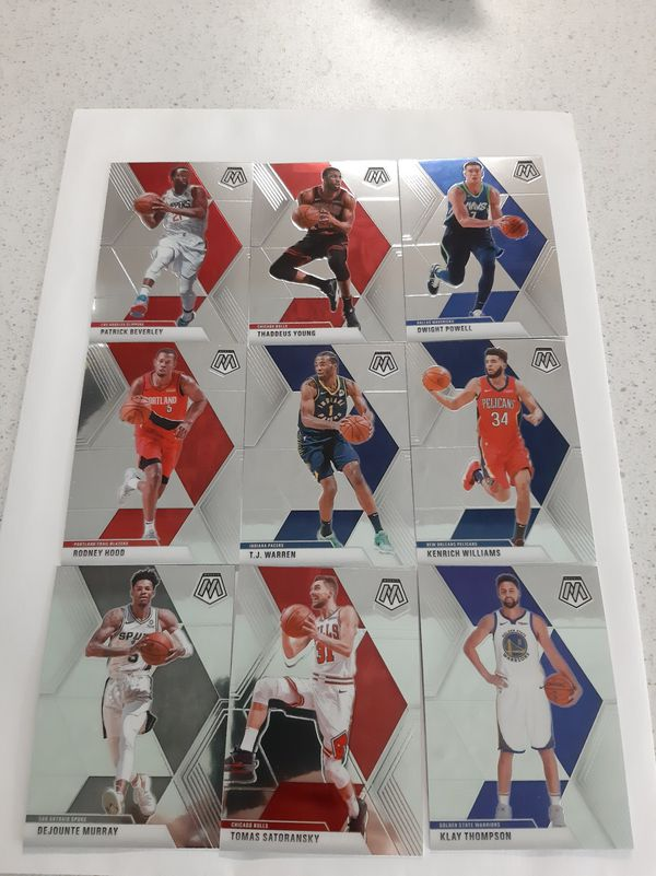2019-20 Mosaic Basketball opened box + 42 Cards Lot