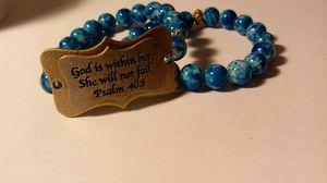 Stack Blue plate bracelets for Sale in Leesburg, GA