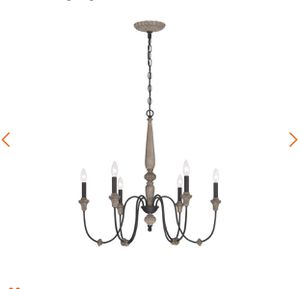 World Imports Capra 6-Light Rust Chandelier with Distressed Ivory Accents- NEW IN BOX for Sale in San Antonio, TX