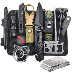 NEW For Adventurers! Survival Gear Kit 12-in-1 for Wilderness/Roadtrip/Hiking/Camping/Hunting/Fishing! for Sale in Frederick, MD