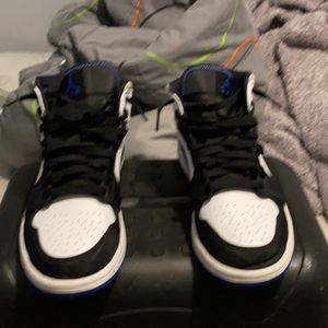 Air Jordan Shoes Black And Blue Mid for Sale in Knightdale, NC