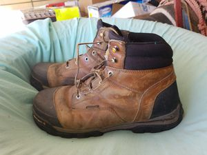 Mens Carhartt Steel Toe Work Boots Still have a lot of life left. Needs New Shoelace. Yes AVAILABLE for Sale in CA, US