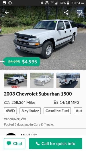 2003 Chevy suburban for Sale in Portland, OR