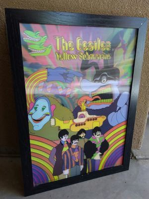 THE BEATLES YELLOW SUBMARINE 3D HOLOGRAM PICTURE FRAME for Sale in Goodyear, AZ