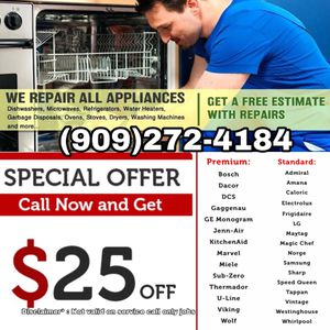 WASHER DRYER REFRIGERATOR STOVE AND MORE for Sale in Bloomington, CA