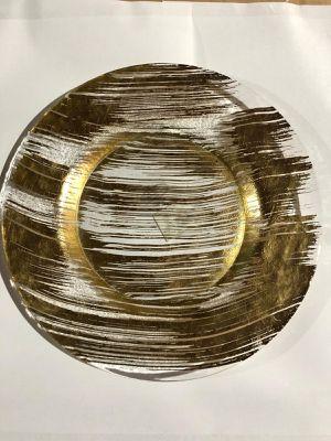 "Z GALLERIE BRUSHSTROKE DINNER GOLD (set of 6) 10.63"" for Sale in Miami, FL"