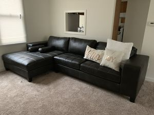 All black sectional I purchased 2 weeks ago brand new condition for Sale in Trenton, NJ