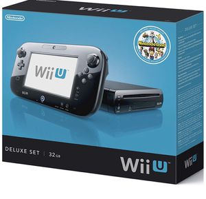 Nintendo Wii U Console - 32GB Black Deluxe Set for Sale in Arlington, VA