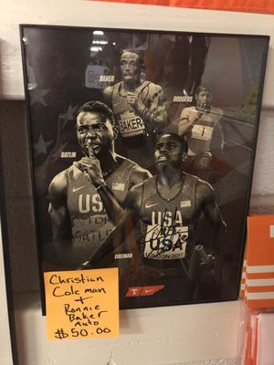 Christian Coleman and Ronnie Baker signed Photo. for Sale in Knoxville, TN