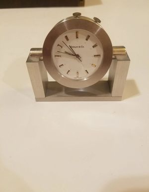 Tiffany & co small clock swiss made Heavy brass table clock for Sale in Hialeah, FL