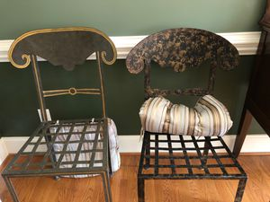 Metal Designer Chairs(4 total/ Two styles) for Sale in Oak Ridge, NC