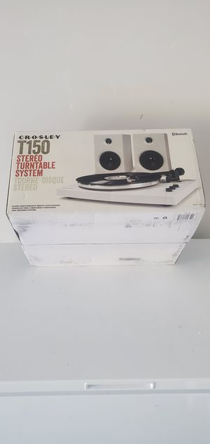 BRAND NEW T150 stereo turntable system. bluetooth for Sale in Mableton, GA
