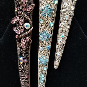 "3 Hair Clips (Two 5"" And One 3.5"") New! for Sale in Tacoma, WA"