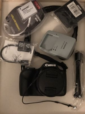 Canon Powershot SX530 HS 16.0 MP Digital Camera with 50x Zoom, Wi-Fi & 1080p Full HD Video + Battery/Charger + 10 pc Bundle 32 GB + USB Adapter for Sale in New York, NY