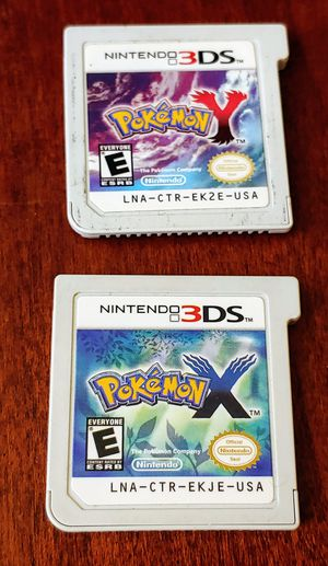 NINTENDO 3DS POKEMON Y AND X FOR ONLY 10$ EACH 100%💥 for Sale in Escondido, CA