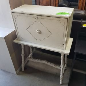 Unique cabinet with drop down secretary desk top. DIY, got chalkpaint? for Sale in Spring Valley, CA