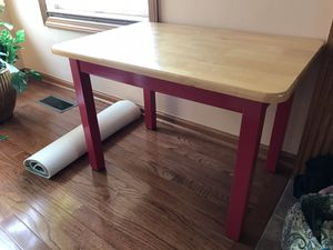 Child's Wood Table and Chair for Sale in Hilliard, OH