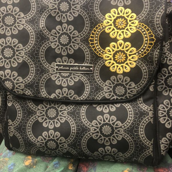 Petunia Pickle Bottom Diaper Bag Boxy Backpack Gently Used $50