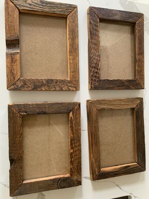 "Four rustic 9 x 11"" picture frames. for Sale in Alexandria, VA"