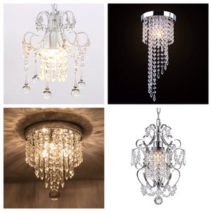 Mini Chandelier Flush Mount Ceiling Light Modern Crystal Ceiling Chic Silver Chrome Hanging Lamp For Home Office, Entry Way Art for Sale in Jurupa Valley, CA