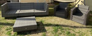 Awesome outdoor patio set. *no cushions included :: Two Chairs - 30/29/31/12in seat height :: 3 piece Sectional couch - 99x33x29x12in :: large for Sale in Burbank, CA