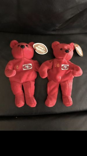 49ers Joe Montana and Steve Young Beanie Babies New with Tags for Sale in Fresno, CA