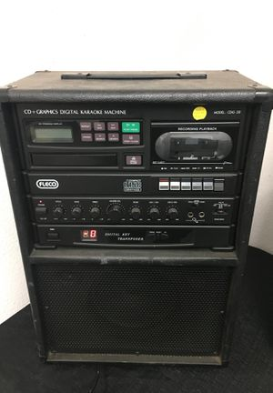 Fleco karaoke machine CDG Player CDG-20 w/ Party Pack for Sale in Tacoma, WA