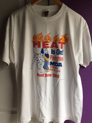 Vintage Heat is on Firefighters boot drive graphics Size XL shirt clothing for Sale in Duluth, GA