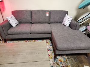 Fabric Sectional Sofa, Gray for Sale in Garden Grove, CA