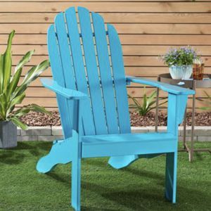 Mainstays Wooden Outdoor Adirondack Chair, Turquoise Finish, Solid Hardwood for Sale in Portsmouth, VA