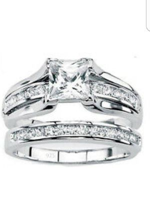 Sterling silver engagement/wedding ring set, Sizes 4 to 11.5 for Sale in North Port, FL