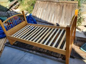 Twin Bed Frame (Used Matress with juice stained Free if you wanted) for Sale in Chula Vista, CA