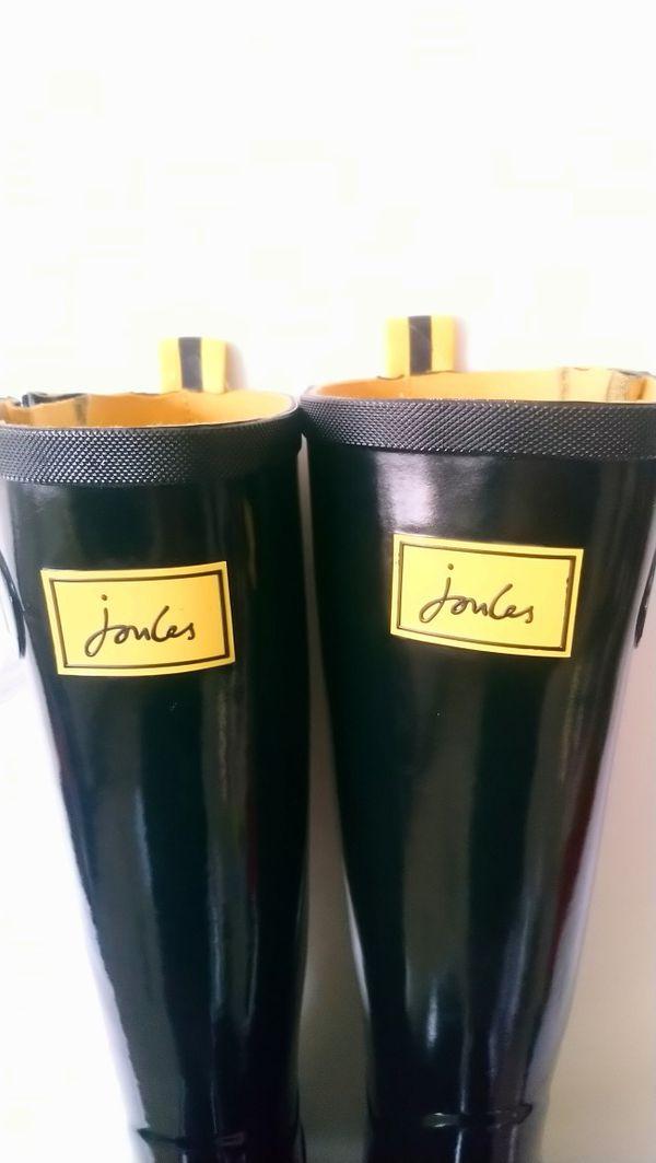 Joules Women's Black Rain Boots Size 6