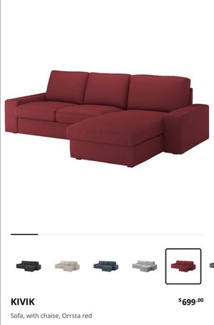 IKEA KIVIK love seat sofa with chaise and ottoman for Sale in Sacramento, CA