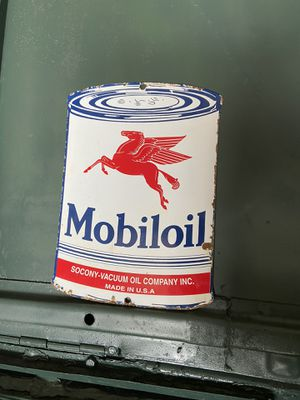 Antique vintage porcelain Mobiloil sign for Sale in Waxahachie, TX