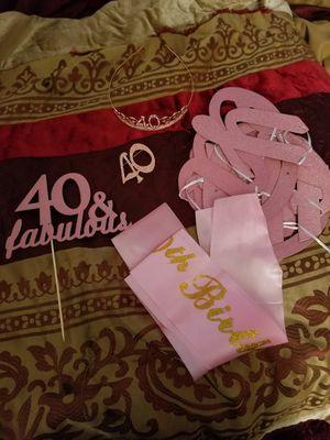 Age 40 decorations for Sale in Williamsburg, VA