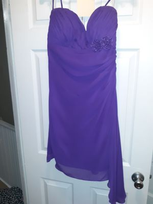 Purple strap or strapless knee length dress for Sale in Martinsburg, WV