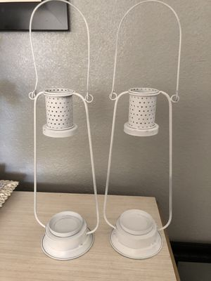Beautiful metal Lanterns candle holders New Can be used for fall or Christmas with some candles and greenery could be used also for the garden Never for Sale in Fort Worth, TX
