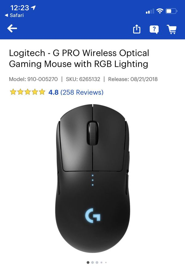 Logitech G Pro Wireless Gaming Mouse WITH Best Buy purchased warranty.