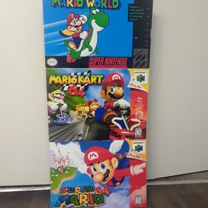 Super Mario Game Cartridge Cover Foam Cardboard Wall Hang for Sale in Upland, CA