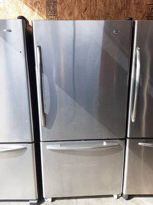 $399 Maytag stainless bottom freezer fridge measures 33 wide includes delivery in the San Fernando Valley a warranty and installation for Sale in Los Angeles, CA