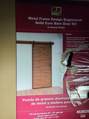 Reliabilt metal frame barn door w/ hardware for Sale in Tualatin, OR