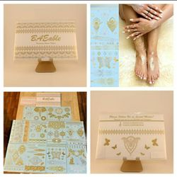New Temporary Henna Tattoos Silver and Gold - 10 sheets for Sale in San Angelo,  TX