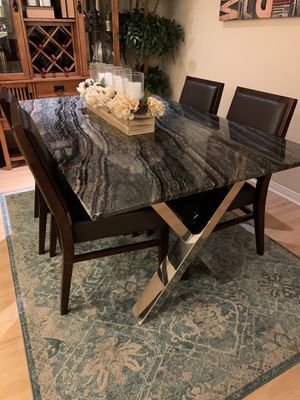 Marble top dining table for Sale in Costa Mesa, CA