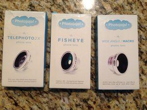 Photojojo Phone Lens Kit(Fisheye, Macro, Telephoto) for Sale in Atlanta, GA