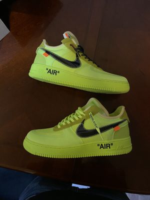 500$ OBO size 8.5 off white volt Nike Air Force 1 for Sale in Stockton, CA