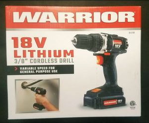 Warrior 18v Cordless Drill for Sale in Minneapolis, MN