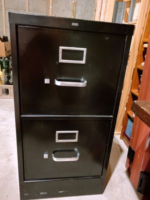 Filing cabinet Two drawers in black for Sale in Stone Mountain, GA